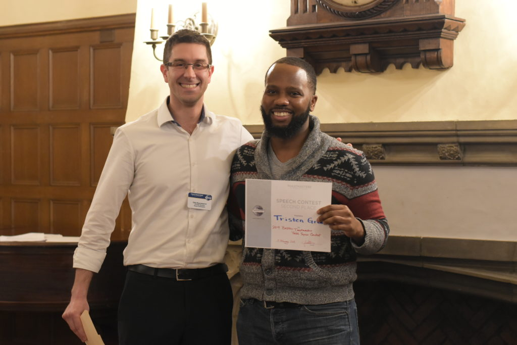 Tristen Grannum 2nd Place Table Topics Contest Winner, Spring 2019
